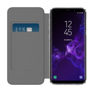 Protect your shiny new Samsung Galaxy S9 with this smoke & black folio case from Incipio. Combining a durable, translucent TPU frame with a high-quality front cover, this case adds protection and also features a card slot for credit or a personal ID card.