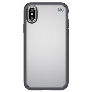 Möt Speck Presidio Metallic - med den skimrande metallfinishen och tuffa fodralet till iPhone X. Det nya skalet ger förbättrat droppskydd, upphöjd ramkant och smal passform.