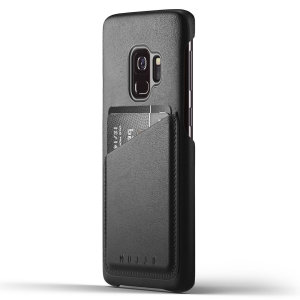 Designed for the Samsung Galaxy S9, this black genuine leather case from Mujjo provides a perfect fit and durable protection against scratches, knocks and drops with the added convenience of a credit card-sized slot.