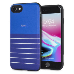 The Resort Collection Stripe Pattern in navy blue from Kajsa provides attractive striped exterior and excellent protection for your iPhone 8 / 7 when you're on your travels. Also features a durable, yet lightweight and sleek-looking design