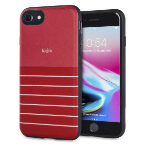 The Resort Collection Stripe Pattern in red from Kajsa provides attractive striped exterior and excellent protection for your iPhone 8 / 7 when you're on your travels. Also features a durable, yet lightweight and sleek-looking design