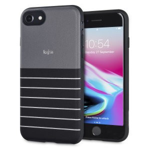 The Resort Collection Stripe Pattern in black from Kajsa provides attractive striped exterior and excellent protection for your iPhone 8 / 7 when you're on your travels. Also features a durable, yet lightweight and sleek-looking design