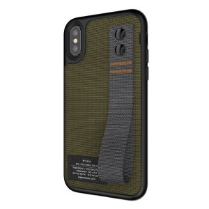 The Miltary Collection Straps from Kajsa provides substantial military grade protection for your brand new iPhone X, and features robust cordura fabric and a convenient hand strap to get a secure grip on your phone no matter what. Olive green