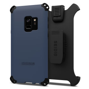 Protect your Samsung Galaxy S9 with this midnight blue and black Dilex Combo Case from Seidio. This case provides a shock absorbing protection with two interlocking layers and includes a screen protecting belt-clip holster.