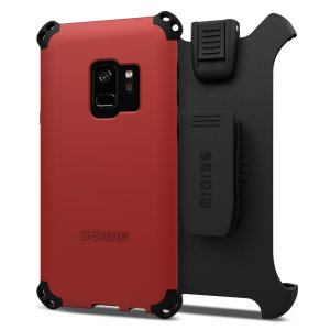 Protect your Samsung Galaxy S9 with this dark red and black Dilex Combo Case from Seidio. This case provides a shock absorbing protection with two interlocking layers and includes a screen protecting belt-clip holster.