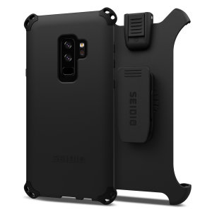 Protect your Samsung Galaxy S9 Plus with this black Dilex Combo Case from Seidio. This case provides a shock absorbing protection with two interlocking layers and includes a screen protecting belt-clip holster.
