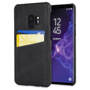 The Sunne Leather Case from Krusell in vintage black offers a classy look for your Samsung Galaxy S9. With 2 card slots on the back, you can replace your bulky wallet with this elegant and functional genuine leather case.
