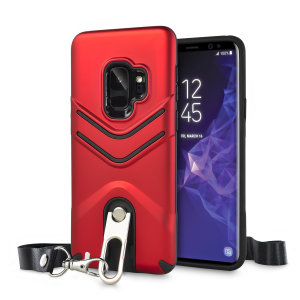 Protect your Samsung Galaxy S9 from bumps and scrapes with this red Vulcan case from Olixar. The case comes with a built-in 360 degree stand and a quickly removable lanyard, which you can use to securely 'wear' your Galaxy S9 around your neck.
