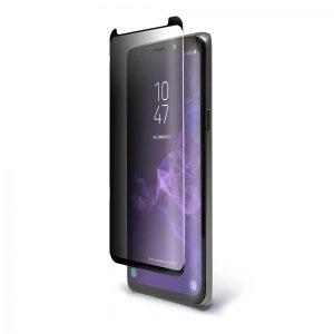 Protégez l'écran de votre Samsung Galaxy S9 à l'aide de la protection d'écran en verre trempé incurvé BodyGuardz Pure Arc. Dotée d'un filtre de confidentialité, cette protection d'écran offre un ajustement bord-à-bord idéal ainsi qu'une sensibilité tactile optimale.