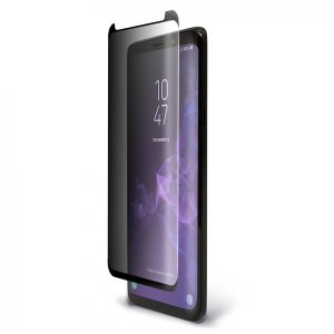 Keep your Samsung Galaxy S9 Plus safe and secure with this curved,  tempered glass Pure Arc Privacy screen protector from BodyGuardz. Features privacy filter and edge-to-edge protection with full touch sensitivity.