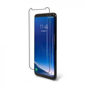 Keep your Samsung Galaxy S9 safe and secure with this tempered glass Pure Arc ES screen protector from BodyGuardz. Features extra secure fit, due to ingenious full-screen adhesive, all bundled with an edge-to-edge protection and full touch sensitivity.