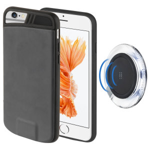 Protect & wirelessly charge your iPhone 7 / 6S / 6 with this Wireless Charging and Case pack. Including a wireless charging pad for ensuring your iPhone is ready for action and a protective wireless charging case.