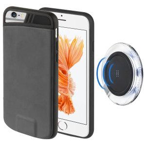 Protégez et rechargez votre iPhone 7 / 6S / 6 sans le moindre fil à l'aide de ce pack combinant à la fois une coque et une plaque de chargement sans fil. Assurez-vous de protéger votre smartphone au quotidien tout en pouvant bénéficier d'un chargement sans fil pratique lorsque l'autonomie de votre appareil s'affaiblit.