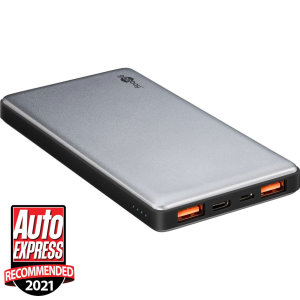 Never let your smartphone battery die again with this Goobay 15,000mAh power bank. Featuring 2 USB ports and 1 USB-C port, this portable battery rapidly charges multiple devices at once with Qualcomm 3.0 support.