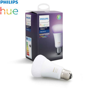 Add to your existing Philips Hue setup with this official Philips white and colour LED bulb. With easy application and full integration with Philips Hue systems, you can brighten up any room and set the lighting to suit your needs.