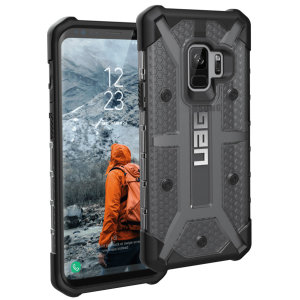The Urban Armour Gear Plasma for the Samsung Galaxy S9 features a protective TPU case in ash grey and black with a brushed metal UAG logo insert for an amazing design and excellent protection from scrapes, bumps and scratches.