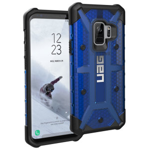 The Urban Armour Gear Plasma for the Samsung Galaxy S9 features a protective TPU case in cobalt with a brushed metal UAG logo insert for an amazing design and excellent protection from scrapes, bumps and scratches.