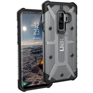 The Urban Armour Gear Plasma for the Samsung Galaxy S9 Plus features a protective TPU case in ice grey and black with a brushed metal UAG logo insert for an amazing design and excellent protection from scrapes, bumps and scratches.