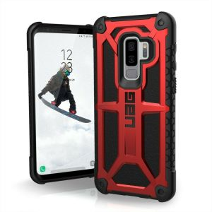 The Urban Armour Gear Monarch in crimson red and black for the Samsung Galaxy S9 Plus is quite possibly the king of protective cases. With 5 layers of premium protection and the finest materials, your Galaxy S9 Plus is safe, secure and in some style too.