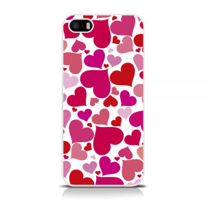 Specifically made for the iPhone 5 / 5S / SE, this pink and white heart print protective hard shell case from Call Candy will shield your iPhone from everyday knocks and drops, while adding a splash of style and colour.