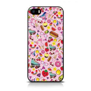 Specifically made for the iPhone 5 / 5S / SE, this pink cartoon candy print protective hard shell case from Call Candy will shield your iPhone from everyday knocks and drops, while adding a splash of style and colour.