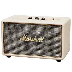 With this compact, powerful Bluetooth speaker, you can enjoy your favourite songs enhanced by the classic signature sound of Marshall amplifiers. The Marshall Acton in cream may be small in size - big in power and sound.