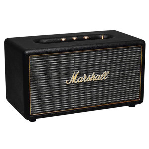 The Marshall Stanmore Bluetooth Speaker in black may be small in size but it's sound is nothing short of large. With wireless bluetooth connectivity and a classic design - Stanmore is the ultimate stylish speaker