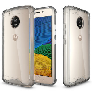 Custom moulded for the Moto G5. This crystal clear tough snap-on case provides a slim fitting stylish design and reinforced corner shock protection against damage, keeping your device looking great at all times.