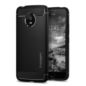 Treffen Sie die neu gestaltete robuste Hülle für das Motorola Moto G5 aus flexiblen, robusten TPU und mit einer mechanischen Konstruktion, einschließlich einer Kohlenstofffaserbeschaffenheit, die Ihr Handy sicher und schlank hält bon Spigen.