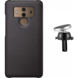 Hold your phone safely in your car while shielding it from damage with this official Huawei magnetic car holder / protective case combo for your Huawei Mate 10 Pro - in brown.
