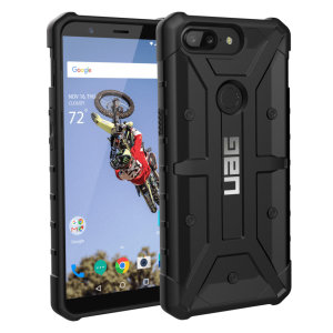 The Urban Armour Gear Pathfinder black rugged case for the OnePlus 5T features a classic tough-looking, composite design with a soft impact-absorbing core and hard exterior that provides superb protection in all situations .