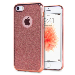 Custom moulded for the iPhone SE, this Rose Gold Glitter gel case provides excellent, stylish protection against damage as well as a slimline fit for added convenience.