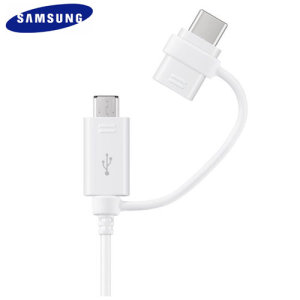 Charge and sync your Micro USB compatible devices or USB-C compatible Samsung Galaxy S9 quickly and conveniently with this official combo cable from Samsung.