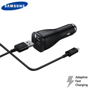 A genuine Samsung adaptive fast car charger and USB-C charging cable for your USB-C Samsung Galaxy S9 phone. Incredibly stylish and fast, this charger is a must have, thanks to its sleek design and super fast charging rates.