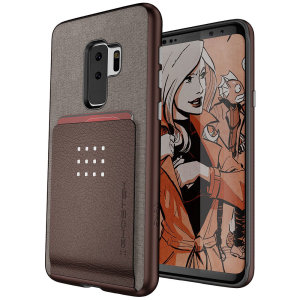The Exec 2 premium case in brown provides your Samsung Galaxy S9 Plus with fantastic protection. Also featuring storage slots for your credit cards, ID and cash