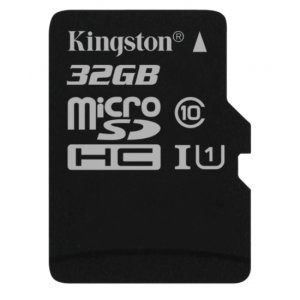 Full HD compliant Class 10 performance Micro SD Card. The 32GB Kingston Canvas Select SDHC card safely and effectively stores all of your precious data, images, video and more.