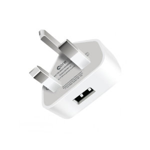 Core Single USB Port Mains Charger - White