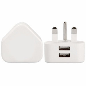 Core Dual USB Port Mains Charger - White