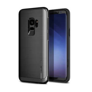 Protect your Samsung Galaxy S9 with this ultra slim case in Black Titanium, which provides stunning looks and a substantial full body protection all in an attractive dual layer design.