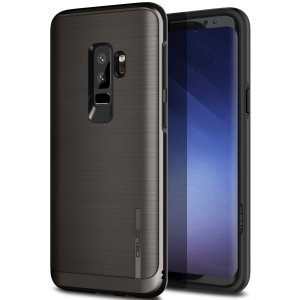 Protect your Samsung Galaxy S9 Plus with this ultra slim case in Black Titanium, which provides stunning looks and a substantial full body protection all in an attractive dual layer design.