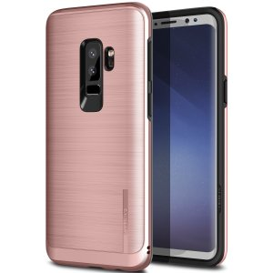 Schützen Sie Ihr Samsung Galaxy S9 Plus mit diesem ultra slim Kettenhemd-Stil-Fall in Roségold, die neben der Bereitstellung von eines atemberaubenden Ganzkörper-Schutzes in einem attraktiven dual Design schützt.