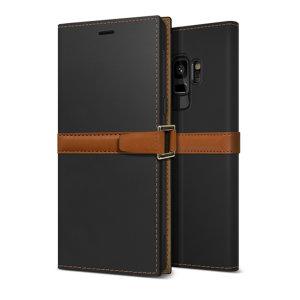 Die Z2 schlanke Geldbörse Hülle in orange und braun für das Samsung Galaxy S9 kommt vollständig mit Kartenschlitzen und besteht aus luxuriösen Leder-ähnlichen Materialien für einen klassischen, renommierten und professionellen Look.