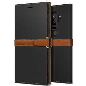 The Z2 Slim Wallet Case in black and brown for the Samsung Galaxy S9 Plus comes complete with card slots and is made with luxurious leather-style materials for a classic, prestige and professional look at all times.
