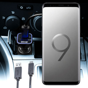 Keep your Samsung Galaxy S9 Plus fully charged on the road with this compatible Olixar high power dual USB 3.1A Car Charger with an included high quality USB to USB-C charging cable.