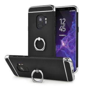 Custom made for the Samsung Galaxy S9, this black XRing case from Olixar provides excellent protection and a handy finger loop to keep your phone in your hand, whether from accidental drops or attempted theft.