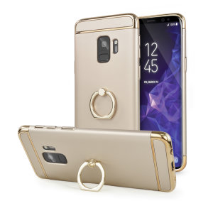 Custom made for the Samsung Galaxy S9, this gold XRing case from Olixar provides excellent protection and a handy finger loop to keep your phone in your hand, whether from accidental drops or attempted theft.