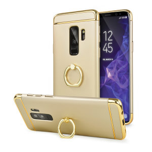 Custom made for the Samsung Galaxy S9 Plus, this gold XRing case from Olixar provides excellent protection and a handy finger loop to keep your phone in your hand, whether from accidental drops or attempted theft.