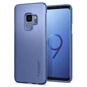 Durable and non-slip material coated, the Spigen Thin Fit series case for the Samsung Galaxy S9 in coral blue offers premium protection for your shiny new handset, all in a slim fitting, lightweight and stylish design.