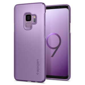 Durable and non-slip material coated, the Spigen Thin Fit series case for the Samsung Galaxy S9 in lilac purple offers premium protection for your shiny new handset, all in a slim fitting, lightweight and stylish design.