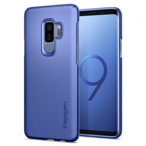 Durable and non-slip material coated, this coral blue Spigen Thin Fit series case for the Samsung Galaxy S9 Plus offers premium protection for your shiny new handset, all in a slim fitting, lightweight and stylish design.